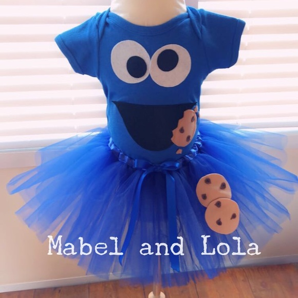 7cdbb61b09a2 Cookie Monster Tutu Costume
